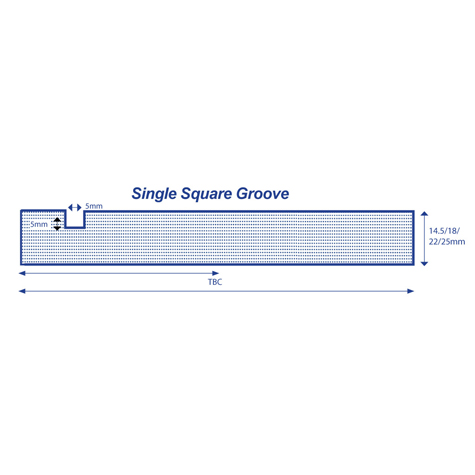 Made to Order Profile - Single Square Grooved | Image 1