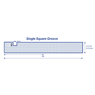 Made to Order Profile - Single Square Grooved