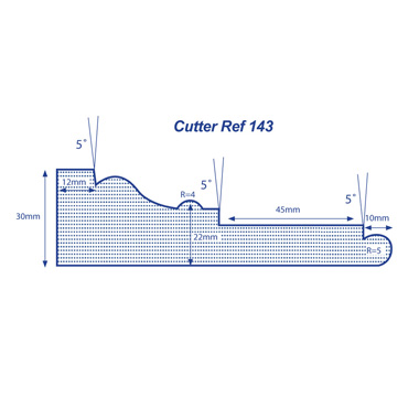 Made to Order Profile - Cutter Ref 143